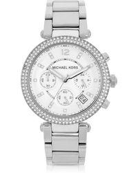 Michael Kors Parker Orologio da Donna con Cronografo e Datario - Metallizzato