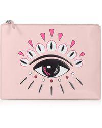 KENZO Kontact Eye A4 Clutch - Pink