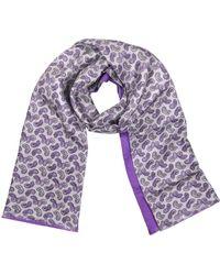 FORZIERI Schal aus Seide mit Paisley Muster - Lila