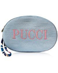 Emilio Pucci Signature Blue Cosmetic Case