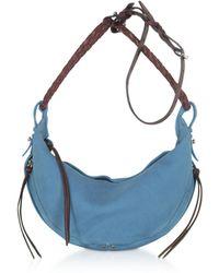 Jérôme Dreyfuss Willy S Light Blue Leather Shoulder Bag