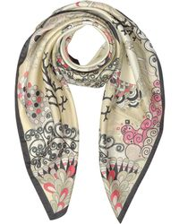 Mila Schon   Seahorses And Coral Reefs Print Twill Silk Square Scarf   Lyst
