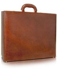 Chiarugi Handgearbeitete Aktentasche für Herren aus braunem Leder
