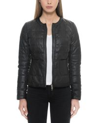 FORZIERI - Black Quilted Leather Women's Jacket - Lyst