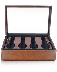 FORZIERI - Porta orologi da otto in pelle marrone - Lyst