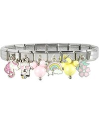 Nomination Rainbow Beads Sterling Silver & Stainless Steel Bracelet - Metálico