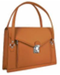 L.A.P.A. - Double Compartment Calf Leather Women's Briefcase - Lyst