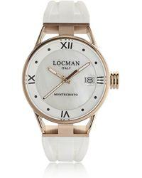 LOCMAN Montecristo Rose Gold Pvd Stainless Steel & Titanium Women's Watch - White