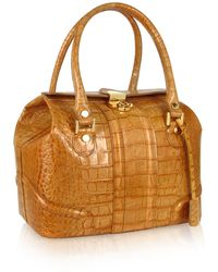 L.A.P.A. - Sand Croco Stamped Italian Leather Tote Bag - Lyst