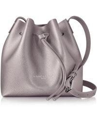 Lancaster Paris - Pur & Element Rose Gold Saffiano Leather Mini Bucket Bag - Lyst
