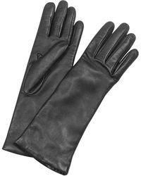 FORZIERI Damenhandschuhe aus Nappaleder und Kaschmir in schwarz