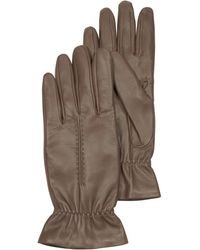 FORZIERI - Taupe Leather Women's Gloves W/wool Lining - Lyst
