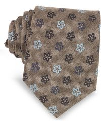 FORZIERI - Floral Woven Silk Ties - Lyst