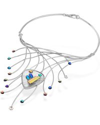 FORZIERI - Fireworks Glass Stones Sterling Silver Necklace - Lyst
