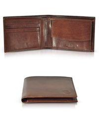 The Bridge - Story Uomo Brown Leather Billfold Men's Wallet - Lyst