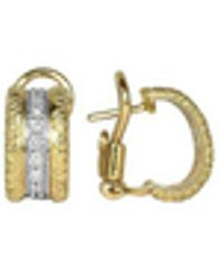 Torrini | Mini-denise - 18k Yellow Gold Diamond Earrings | Lyst