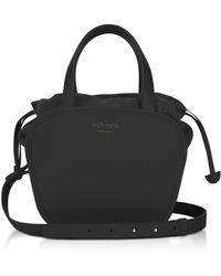 meli melo - Rosetta Black Leather Crossbody Bag - Lyst
