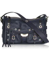 Rag & Bone - Navy Blue Leather Grommet Field Messenger Bag - Lyst