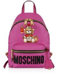 Moschino Teddy Bear Nylon Backpack - Morado