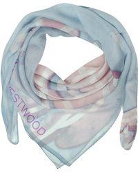 Vivienne Westwood - Light Blue & Pink Foul Flash Orbs Print Silk Wrap - Lyst