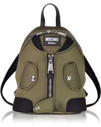fe09697dc681 Moschino Black Leather Biker Jacket Backpack W/piercings in Black - Lyst
