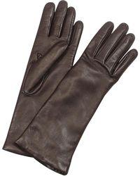 FORZIERI - Gants longs en cuir italien marron à doublure cachemire - Lyst