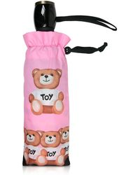 Moschino - Bears In A Row Pink Umbrella - Lyst