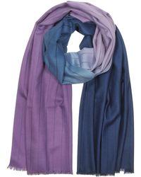 Paul Smith - Two-tone Dip-dye Stripe Cashmere-blend Men's Scarf - Lyst