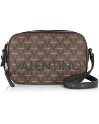Valentino By Mario Valentino Liuto Signature Eco Leather Camera Bag - Black