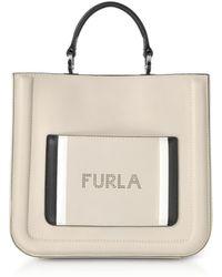 Furla - Perla Grey Reale N/s Small Tote Bag - Lyst
