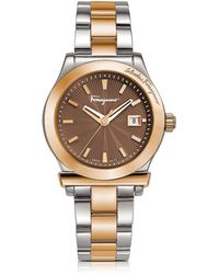Ferragamo Two-tone Stainless Steel Bracelet Watch - Metallic