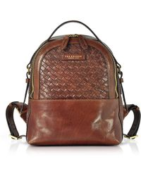 The Bridge - Salinger Woven Leather Women's Backpack - Lyst