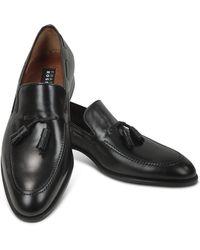 Fratelli Rossetti - Loafer aus schwarzem Leder mit Troddeln - Lyst