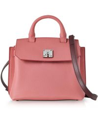 MCM - Small Coral Blush Pebble Leather Milla Crossbody Bag - Lyst