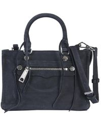 Rebecca Minkoff Micro Regan Satchel Leather Bag - Black