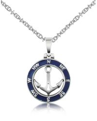 FORZIERI - Stainless Steel Anchor Pendant Necklace - Lyst