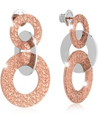 Rebecca - R-zero Rose Gold Over Bronze Earrings - Lyst