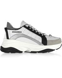 DSquared² Gommato Leather Men's Sneakers - White