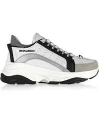 DSquared² Gommato Leather Men's Sneakers - Blanc