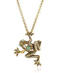 Alcozer & J - Brass Frog Necklace - Lyst