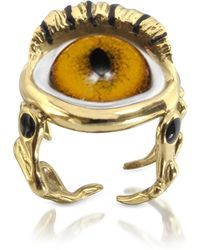 Bernard Delettrez - Bronze Eye Ring - Lyst