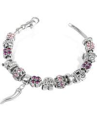 Tedora - Sterling Silver Lucky Charm Bracelet - Lyst