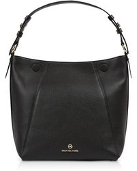 Michael Kors Lucy Medium Hobo Shoulder Bag - Black