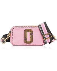 Marc Jacobs The Trompe L'oeil Snapshot Camera Bag en Coton et Lin Imprimé - Rose