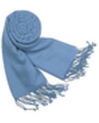 FORZIERI - Solid Pashmina & Silk Fringed Shawl - Lyst