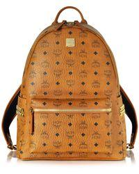MCM - Medium Stark Cognac Backpack - Lyst