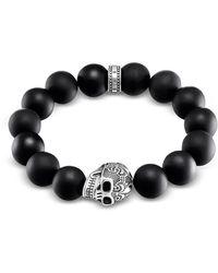 Thomas Sabo Bracelet - Argent Sterling 925 - Verre - - Noir