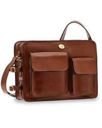 The Bridge Story Uomo Genuine Leather Men's Briefcase - Brown