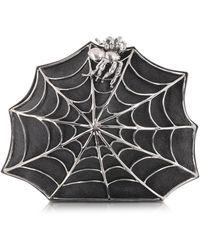 Bernard Delettrez Black Clutch mit Spinnennetz und Spinner - Schwarz