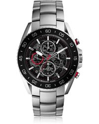 14951f9e47b0 Michael Kors - Jetmaster Silver Tone Stainless Steel Men s Chrono Watch -  Lyst
